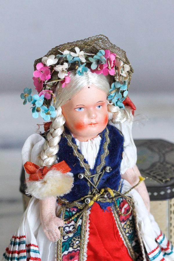 ハンガリーのパピエマルシェの民族衣装のお人形21cm gt-724