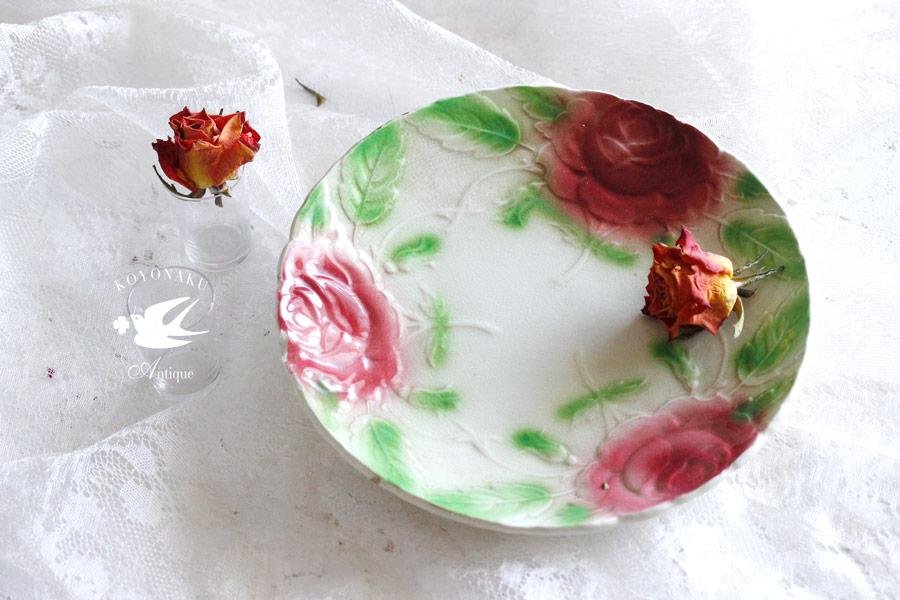 フランスのバルボティーヌ 薔薇のプレート gc-705