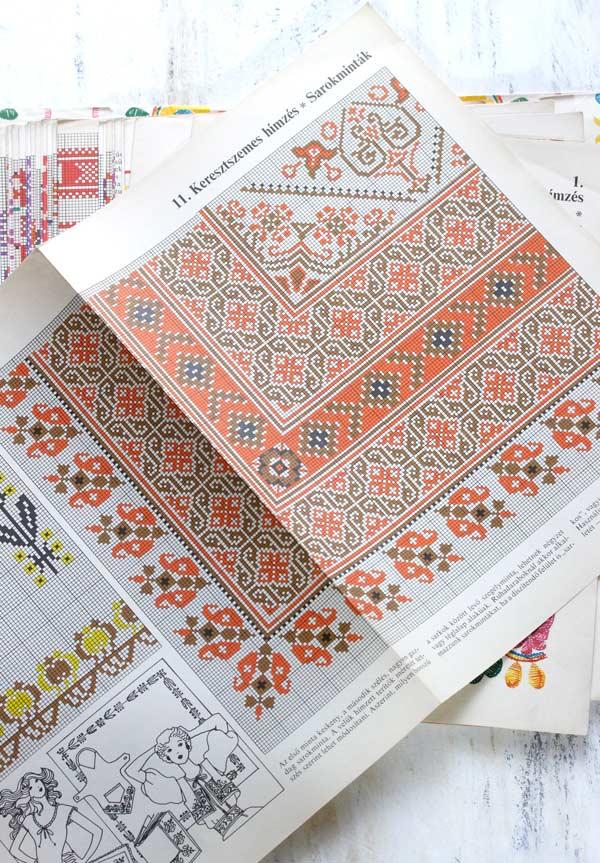ハンガリー刺繍図案集28枚 gh-168