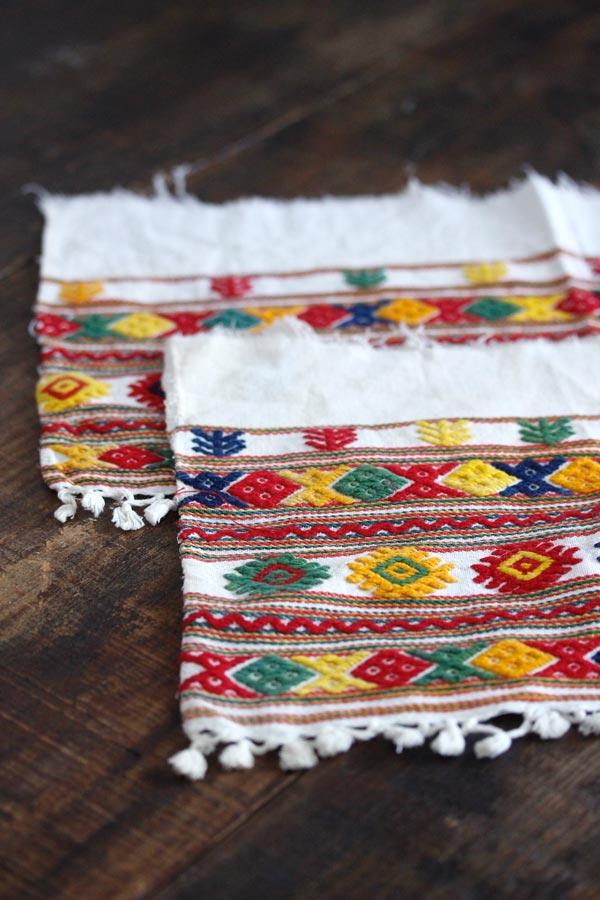 アンティーク東欧刺繍パーツ2枚セット ge-744