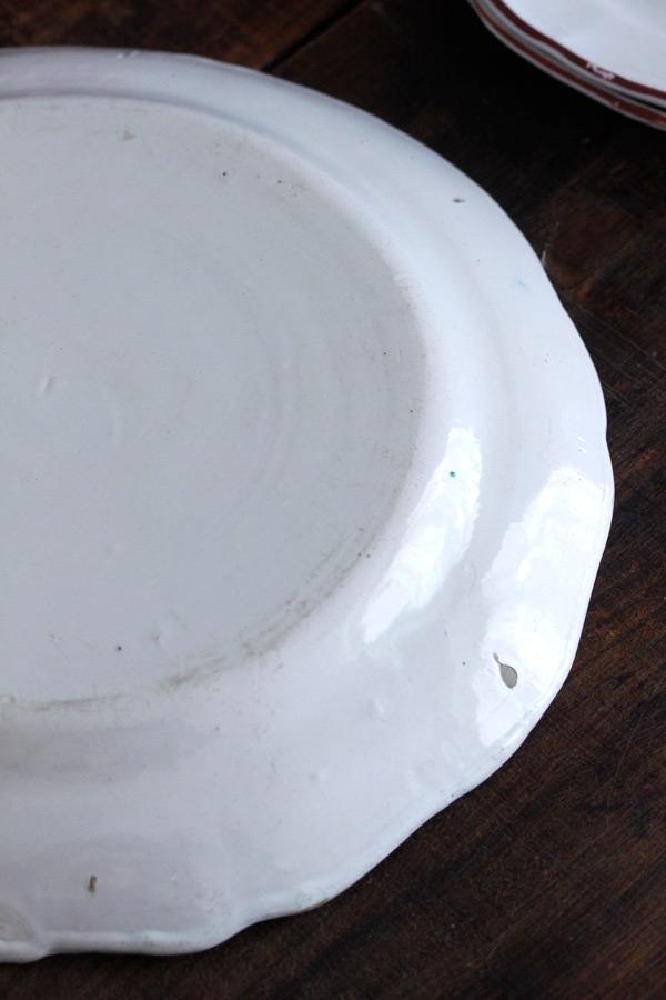 フランスストラウスブール手描きブーケのリムプレート W27.5cm gc-730