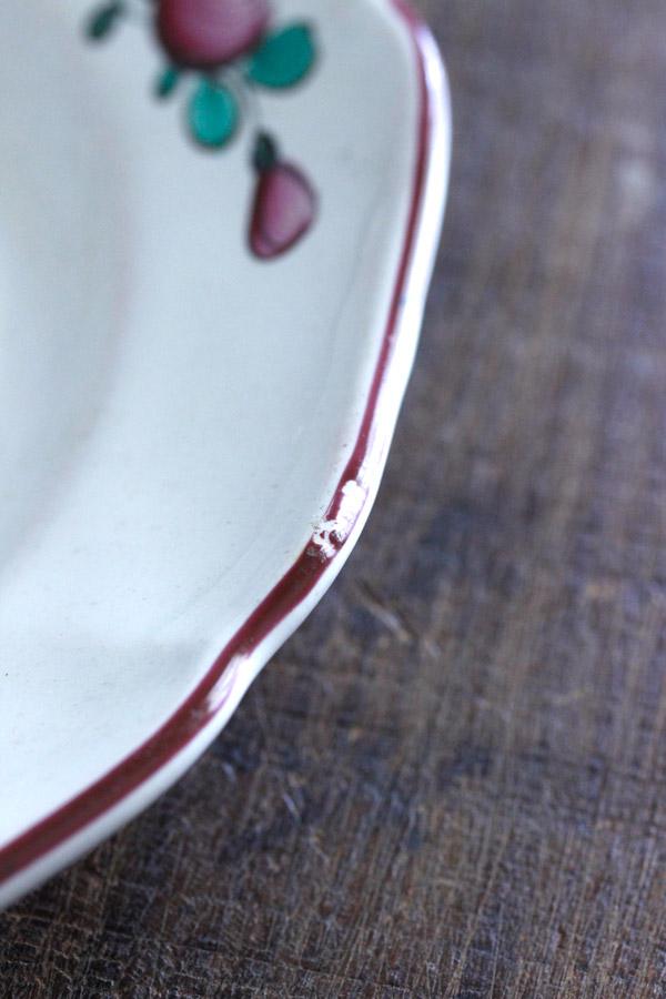 フランスストラウスブール手描きブーケのリムプレート W22.5cm gc-731