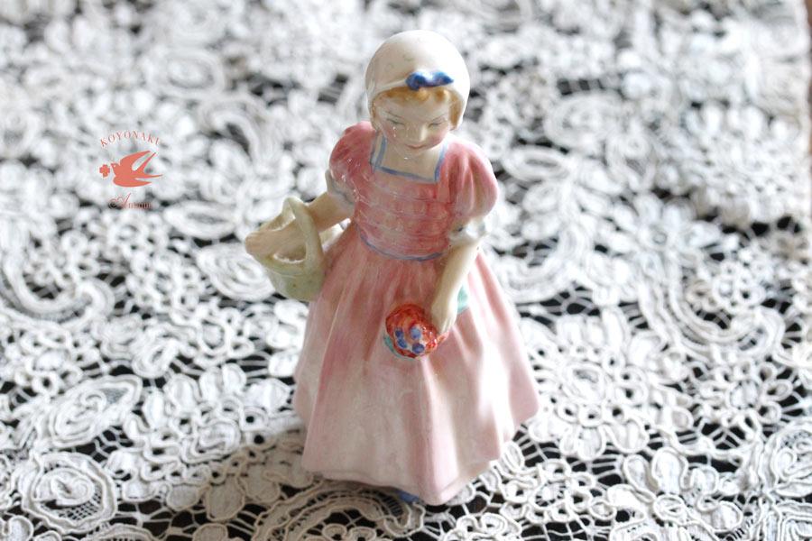 Royal Doulton Roseの少女のフィギュリン12cm 1930-95年 gt-770