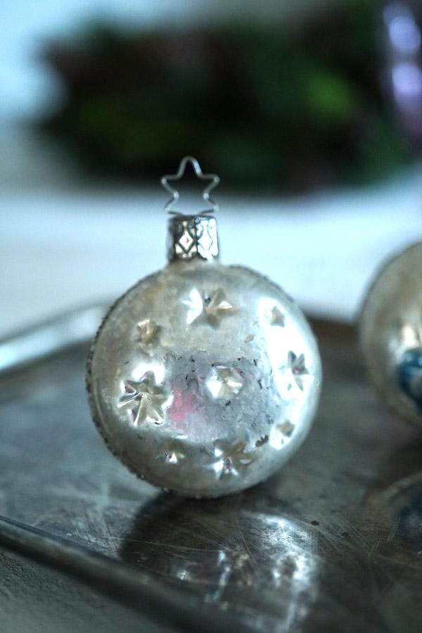 インゲガラスの手吹きクリスマスオーナメント天使 5.5cm gx-322