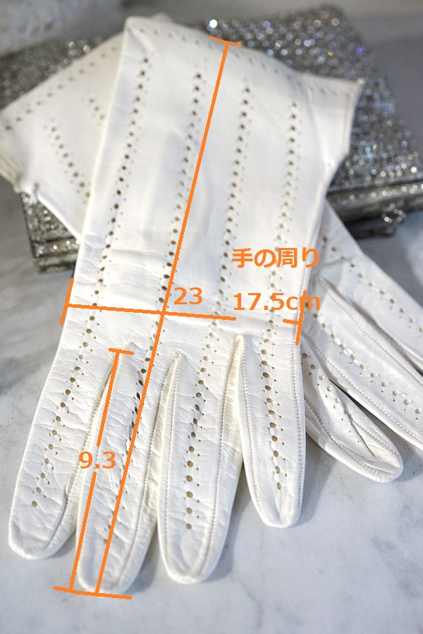 ヴィンテージの柔らかい革の手袋 ga-769