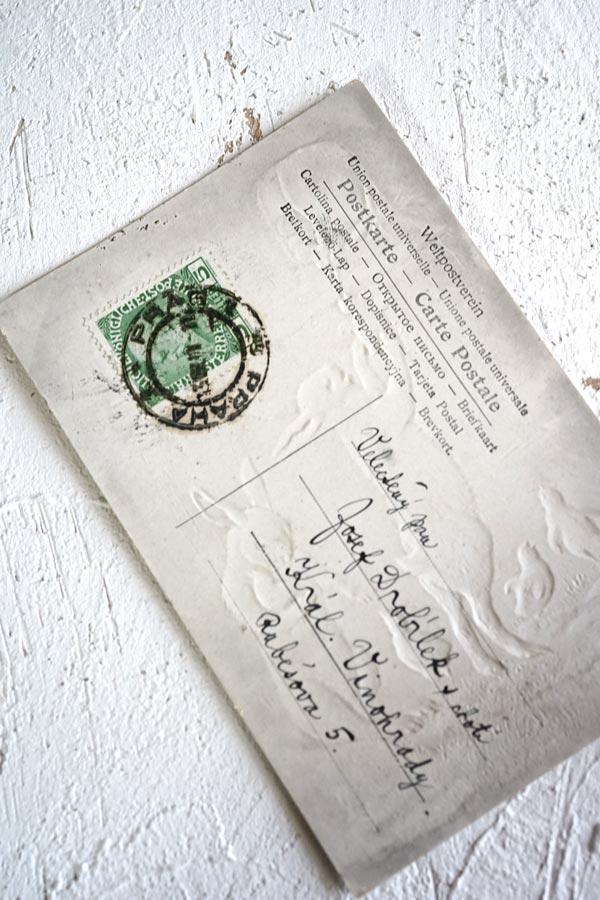 アンティークポストカード イースター うさぎとひよこ gh-183