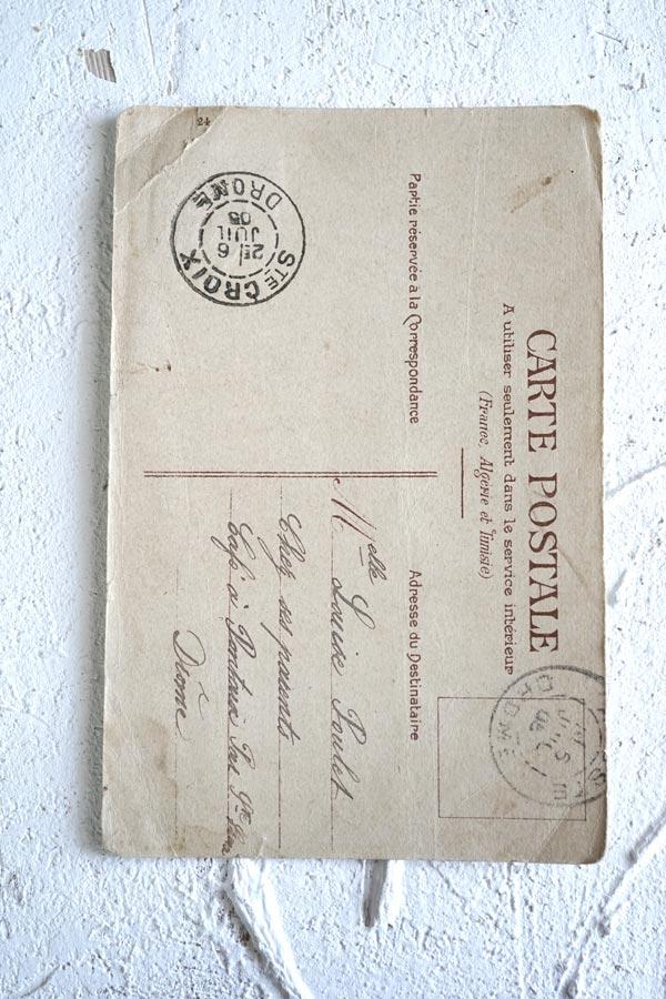 アンティークポストカード イースター女の子と うさぎさん gh-185