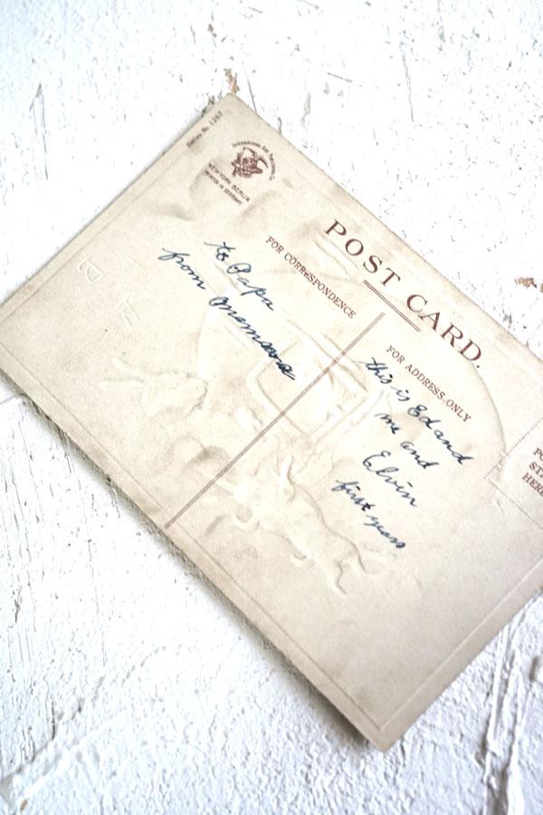 アンティークポストカード イースター たまごを買ううさぎさん gh-186