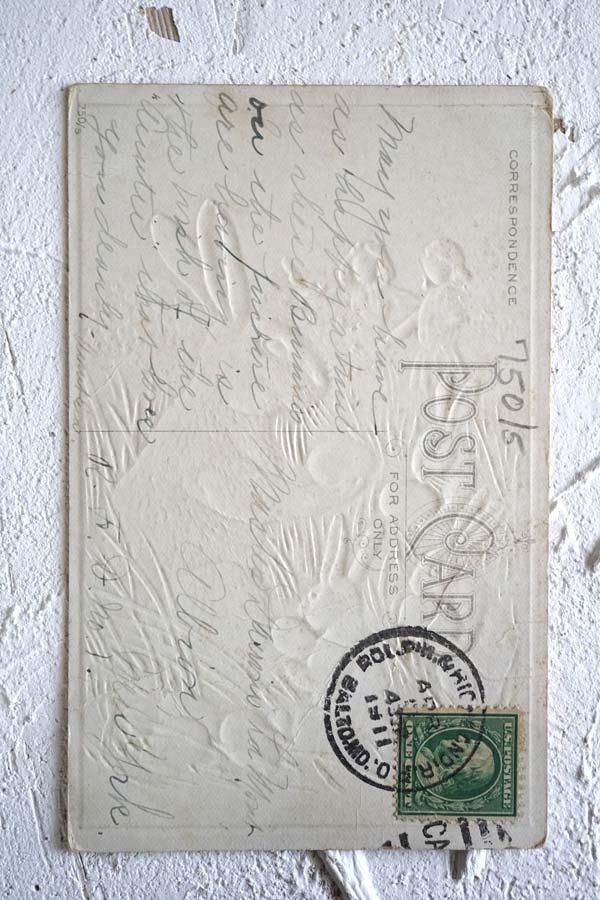 アンティークポストカード イースター うさぎのエッグハンティング gh-188