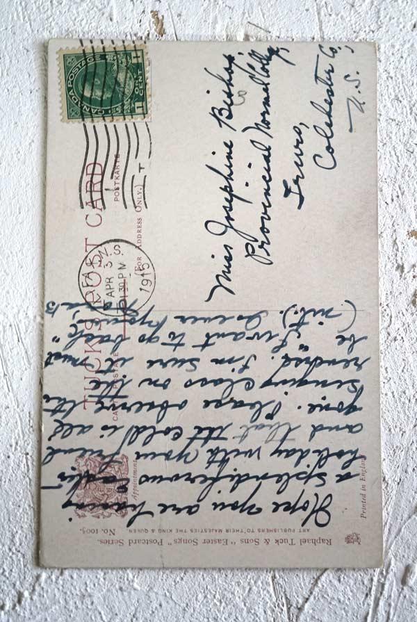 アンティークポストカード イースターうさぎ達のコーラス  gh-191