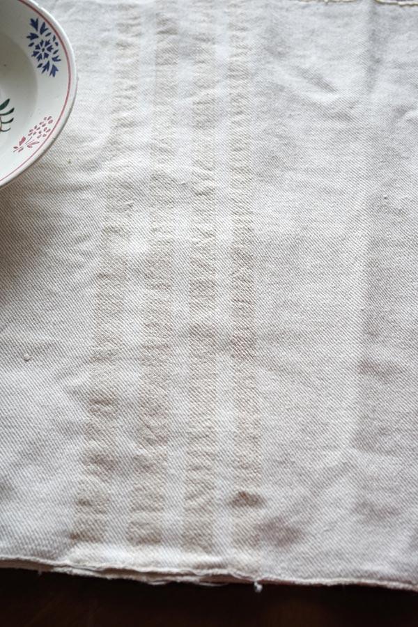 ハンガリーアンティークホームスパンリネン│ベージュストライブ 46×170cm gli-0287