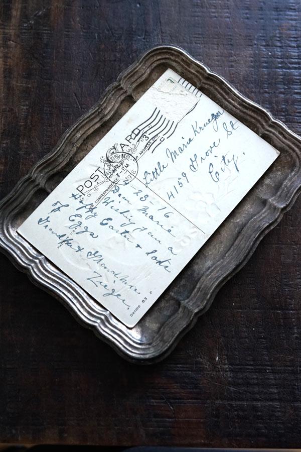 アンティークイースターポストカード うさぎと水仙 1916年 gh-228